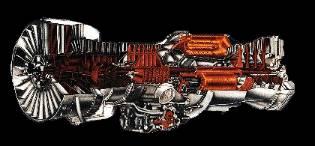 Spaccato di un Rolls Royce JT-3D
