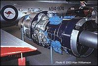 Un Rolls Royce Avon al museo dell'aeronautica australiana