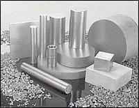 titanio in varie forme semilavorate