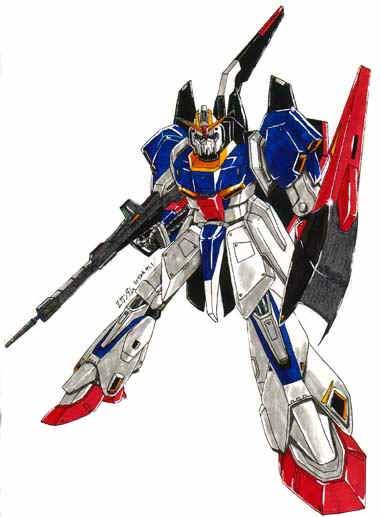 Lo Z Gundam, che implementa la tecnologia del Rick Dias, il telaio mobile e le caratteristiche tradizionale della serie Gundam